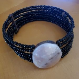 Jewelry - Black Beaded Choker Necklace